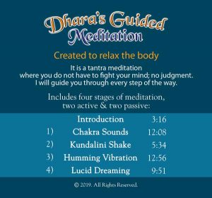 Dhara-Guided Meditation-back cover