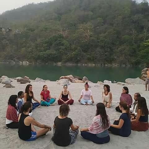 people during meditation